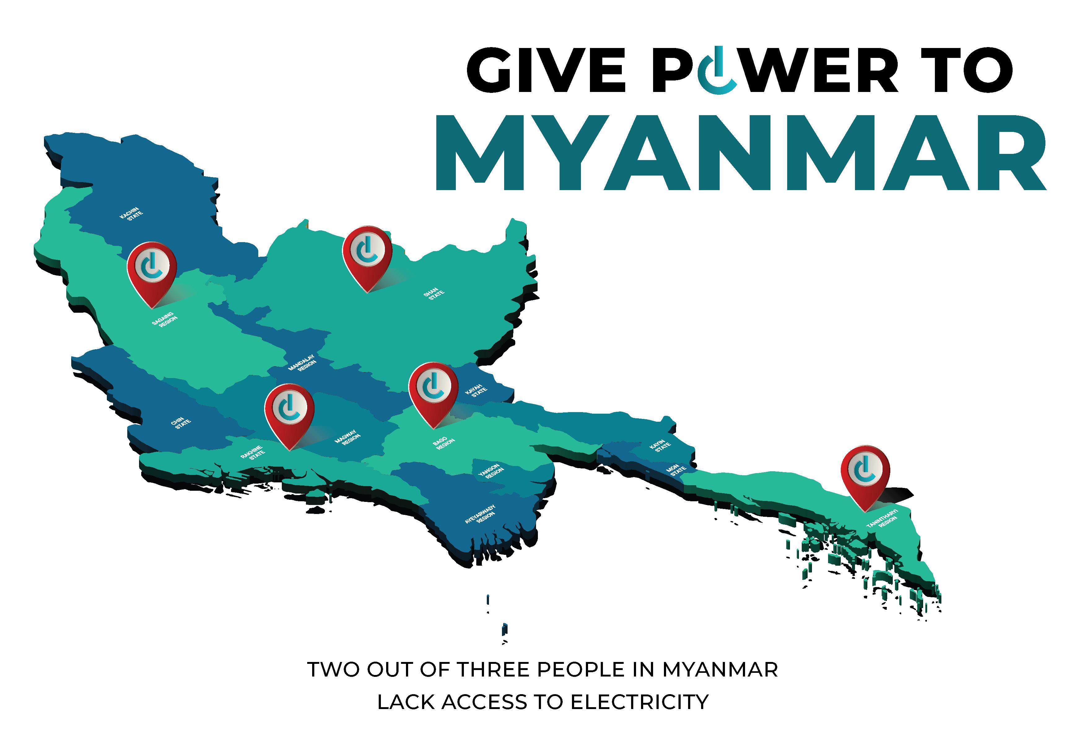 Myanmar Map and Pin Vector-02